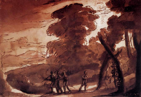 Claude de Lorraine - Paysage de forêt