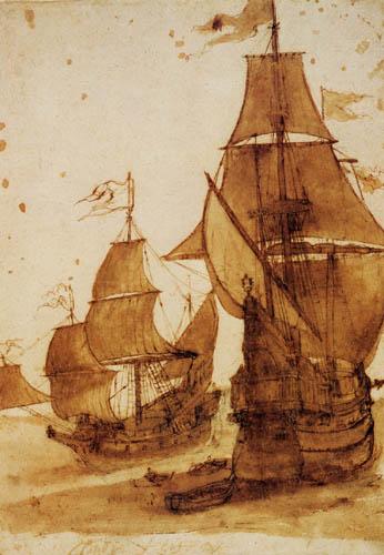 Claude Lorrain - Zwei Fregatten