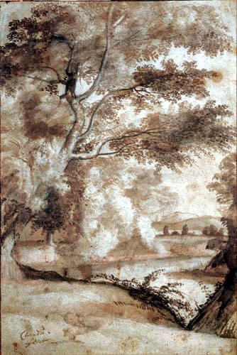Claude de Lorraine - Stream course with trees