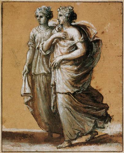 Claude Lorrain - Zwei Frauen