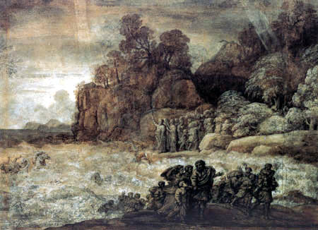 Claude Lorrain - Durchzug durch das rote Meer
