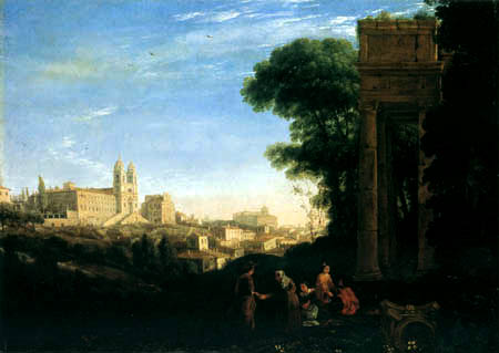 Claude Lorrain - Ansicht von Rom
