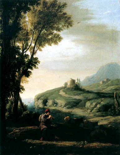Claude Lorrain - Flötender Hirte