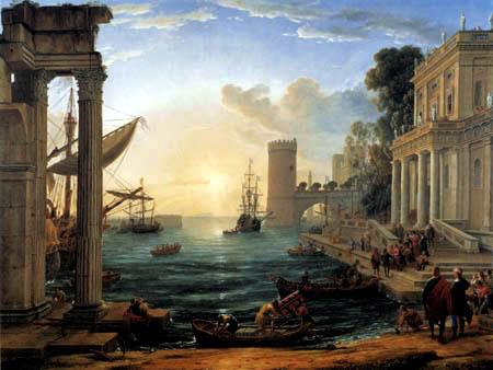 Claude Lorrain - Abreise der Königin von Saba