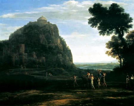 Claude Lorrain - A procession in Delphi