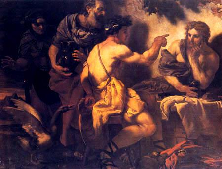 Johann Carl Loth - Jupiter and Mercury