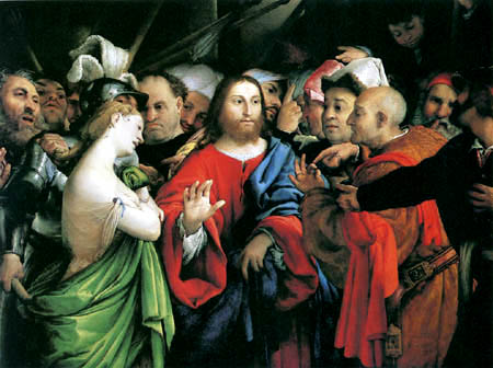 Lorenzo Lotto - Christ and the adulterer