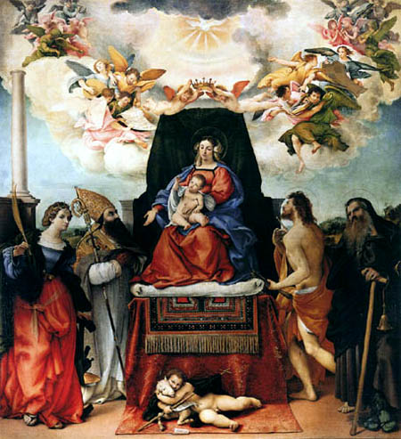Lorenzo Lotto - Madonna mit Kind