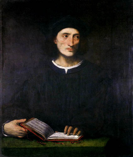 Lorenzo Lotto - Portrait of a musician