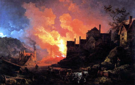 Philippe Jacques de Loutherbourg - Coalbrookdale by Night