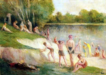 Maximilien Luce - Bathers in Méricourt
