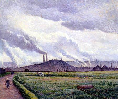 Maximilien Luce - Charleroi, Landscape near Couillet