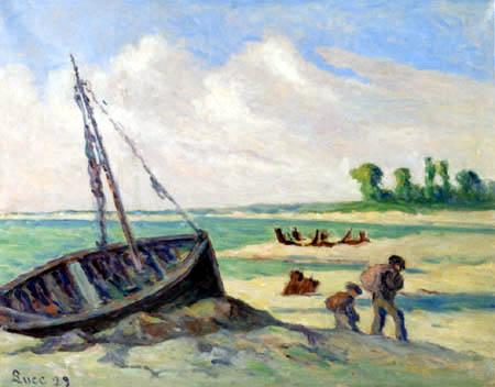 Maximilien Luce - Boat aground near Tréport