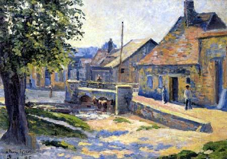 Maximilien Luce - Street scene in Gisors