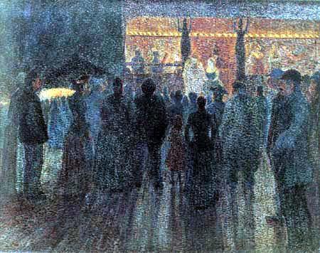 Maximilien Luce - Jahrmarkt bei Nacht