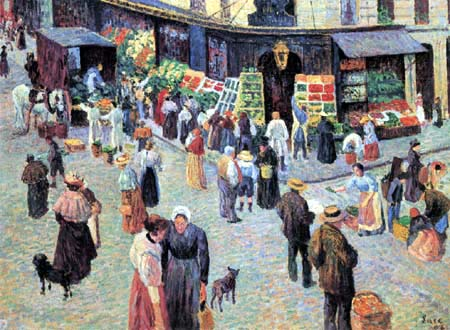 Maximilien Luce - Grocer's shop in the Rue des Abbesses