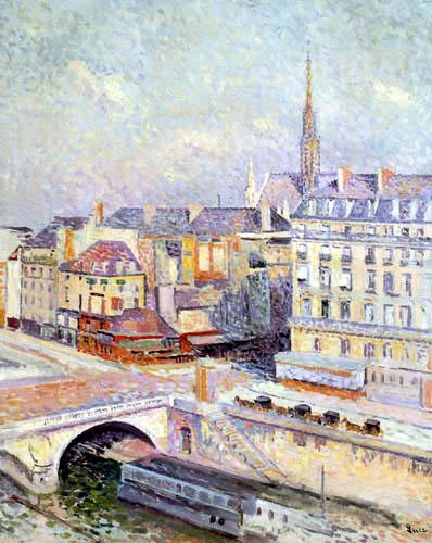 Maximilien Luce - Sainte Chapelle and the Quai des Orfevres