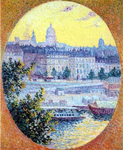 Maximilien Luce - The Quai Montebello and Sainte-Geneviève, Paris