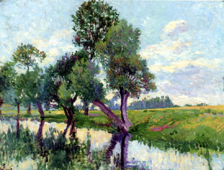 Maximilien Luce - On the banks of the Cure