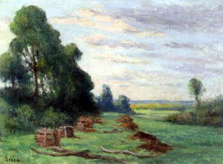 Maximilien Luce - Landscape around Rolleboise