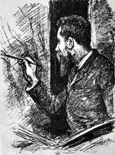 Maximilien Luce - Porträt Georges Seurat