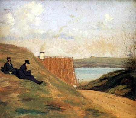 Johan Thomas Lundbye - A Sunken Road near Frederiksværk