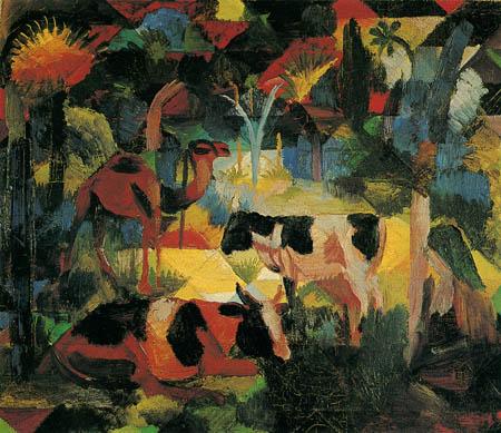 August Macke - Landschaft mit Kühen