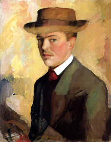 August Macke - Selfportrait with hat