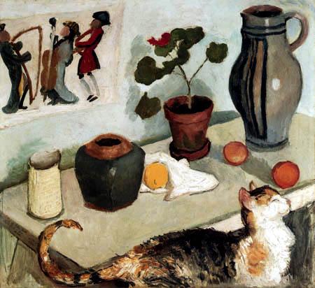 August Macke - Stillleben mit Katze
