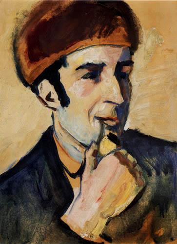 August Macke - Bildnis Franz Marc