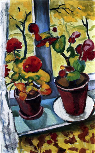 August Macke - Flowers in the window