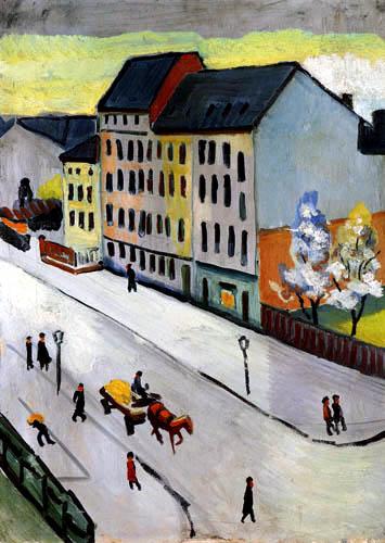 August Macke - Unsere Straße in Grau