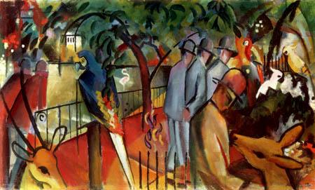 August Macke - Zoologischer Garten I