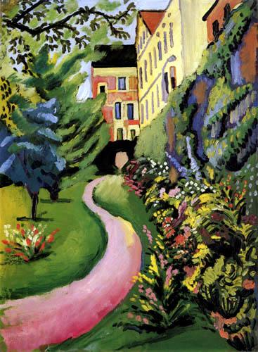 August Macke - Our garden