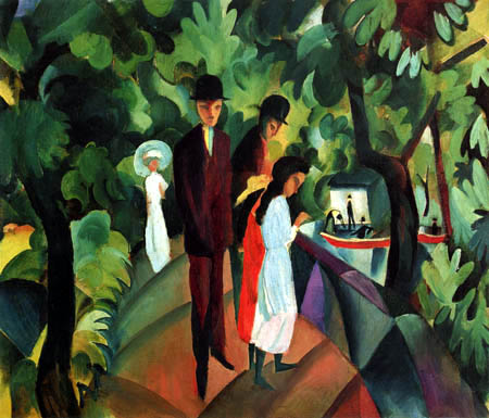 August Macke - Walk above the bridge