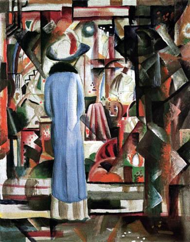 August Macke - Großes helles Schaufenster