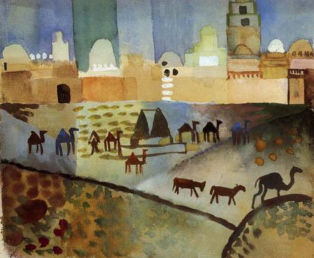 August Macke - Kairouan I