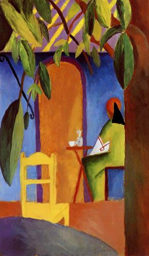 August Macke - Turkish Cafe II