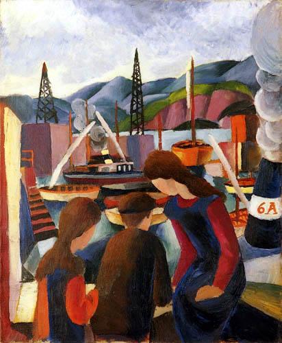 August Macke - Kinder am Hafen I