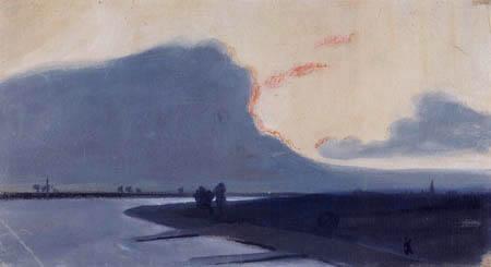 August Macke - Niederrheinische Landschaft