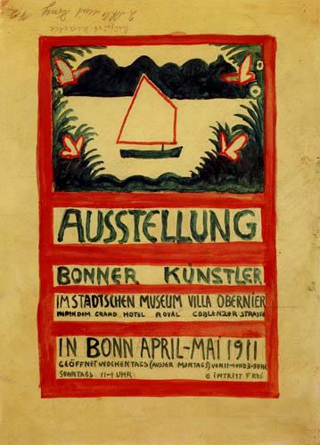 August Macke - Plakatentwurf, Rückseite