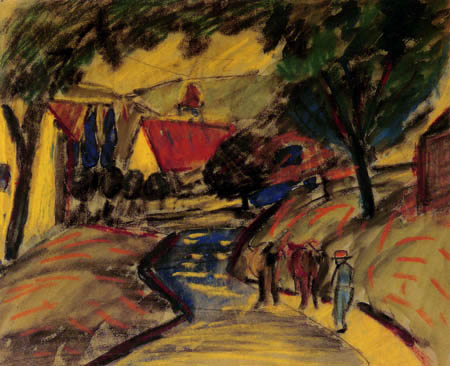 August Macke - Dorfstraße in Kandern