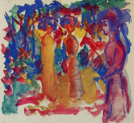 August Macke - Women by the walk