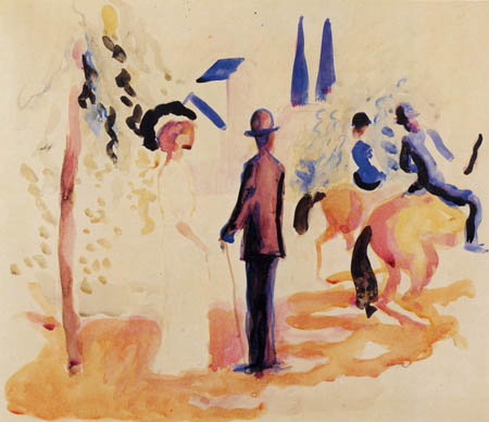 August Macke - Riders and walkers