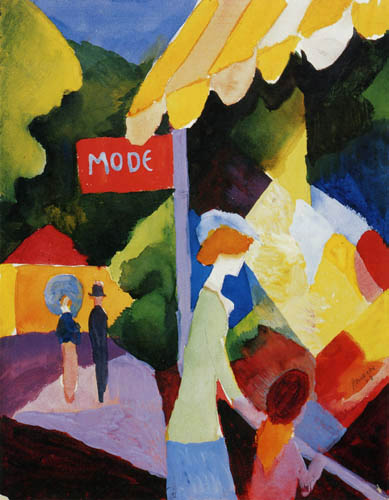 August Macke - Modefenster