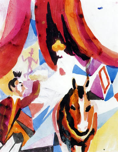 August Macke - Zirkusreiterin mit Clown