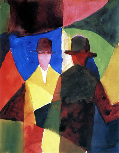 August Macke - Reflection in the window