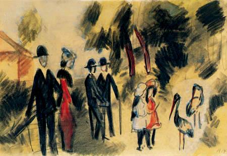 August Macke - Leute bei den Reihern