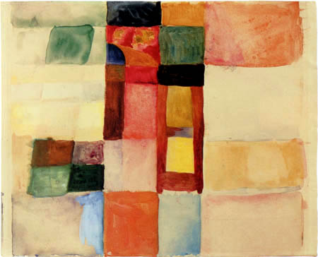 August Macke - Colored forms