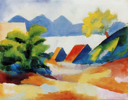 August Macke - Thuner See I